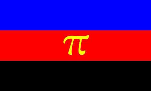 La bandiera rappresenta le relazioni poliamorose, ideata nel 1995.