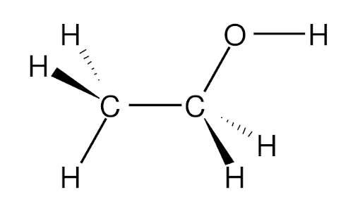 Come funziona l'alcol test: struttura dell'etanolo tramite le proiezioni di Fisher