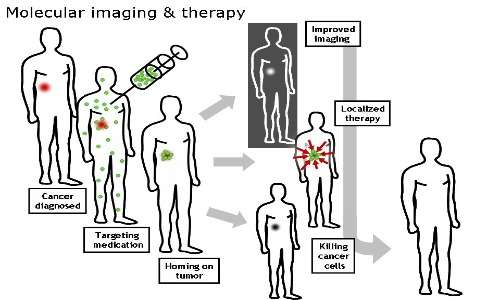 Due delle più importanti applicazioni della nanomedicina: l'imaging diagnostico e il drug delivery