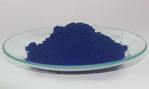 Ferrocianato ferrico in polvere, o blu di Prussia, che si sviluppa con la cianografia