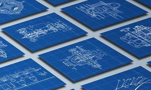 Nell'ambito dell'architettura, il blueprint serve a ricopiare le piantine degli edifici e degli oggetti.