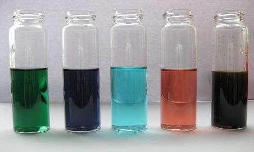 Alcuni dei colori caratteristici delle nanoparticelle applicate in nanomedicina