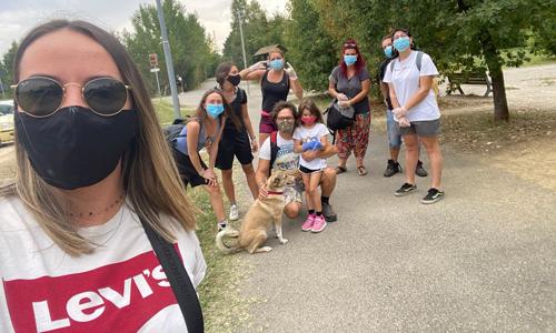 I volontari che hanno partecipato a Save the Planet a Sassuolo (MO).