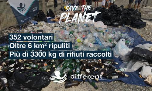Grazie al lavoro di 352 volontari, durante Save the Planet sono stati ripuliti 6 km quadrati di territorio, e sono stati riciclati o correttamente smaltiti più di 3300 kg di spazzatura.