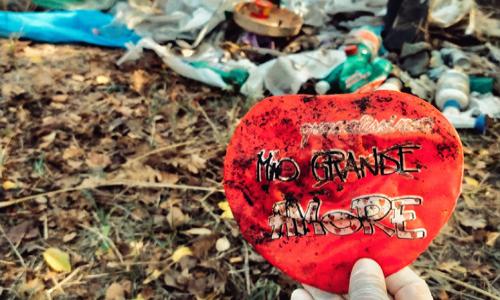 I rifiuti raccolti a Ripi (FR) da un volontario che ha partecipato a Save the Planet.