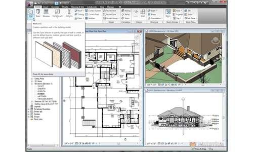Piante, prospetti e sezioni create dal modello BIM tridimensionale.