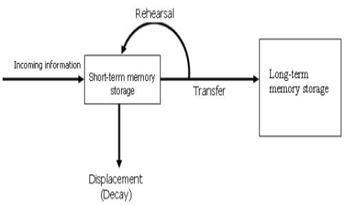 Schema del funzionamento della memoria a breve termine.