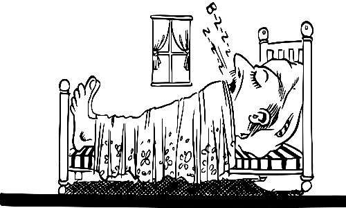 respiro di Cheyne-Stokes uomo che dorme
