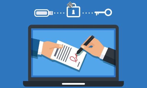 La chiavetta USB è un metodo per la generazione della firma digitale da remoto