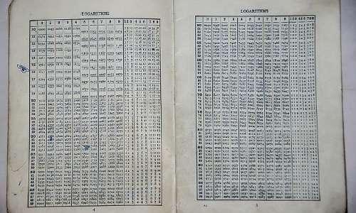 i logaritmi tavole logaritmiche