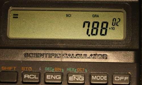 notazione scientifica calcolatrice